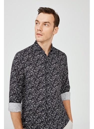 Avva Erkek  Baskılı Gömlek A02Y2051 Lacivert